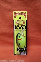 STRIKE KING KVD 2.5 Square Bill Crankbait #HCKVDS2.5-535 Black Back Chartreuse