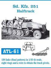 FRIULMODEL METAL TRACKS SD.KFZ.251 HALFTRACK Scala 1/35 Cod.ATL-61