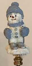 Snow Buddies Skier Lamp Shade Finial-New-Handcrafted by Lamp Shades Plus