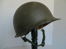 Early Vnm U.S. Army M1 Helmet with Od buckles on chinstrap front seam Complete