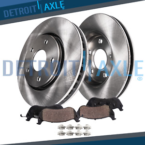Front Disc Brake Rotors and Ceramic Brake Pads For 2011 Hyundai Sonata Limited 2.4 Liter L4 Stirling Two Years Warranty