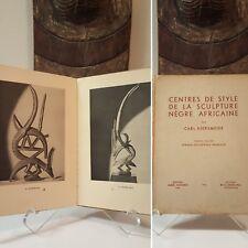 WAS $350 - Tribal African Art book Kjersmeier 1935 Mask Figure Sculpture Statue