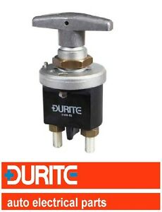 DURITE 12v/24v FIXED 'T' HANDLE ON/OFF BATTERY ISOLATOR CUT OFF KILL SWITCH