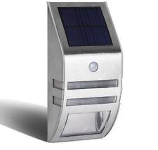 Set 4 Solar Powered Security Lights White Black Motion Sensor Light