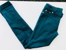 Wet Seal Women Juniors Skinny Jeans Teal Blue Denim Stretch Pants Sz 29 Medium