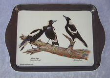 ASHDENE SCATTER TRAY - MAGPIES - 'BIRDS OF AUSTRALIA' SERIES