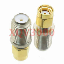 1pce Adapter converter F TV female jack to RP*SMA male jack RF COAXIAL RG6 CCTV