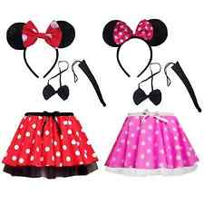 "Minnie Mouse PLUS SIZE TUTU 12"" length Accessory EAR TAIL Set Fancy Dress UK"