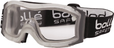 Bolle SAFETY GOGGLE Thermoplastic Rubber Frame, Dual CLEAR Lens*Australian Brand
