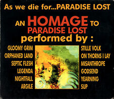 vvaa AS WE DIE FOR...HOMAGE TO PARADISE LOST CD w/slipcase metal tribute