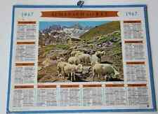 Calendrier almanach PTT 1967 Alpages Carte Pyrénées Orientales Andorre