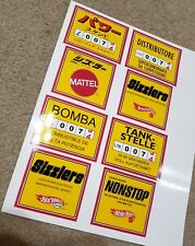 Sizzlers Juice Machine Stickers Japan Italy Mexico & Germany All 4! Hot Wheels!