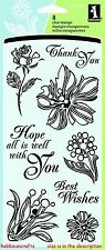 INKADINKADO timbres clair - 60-30057 - sentiments-expressions floral