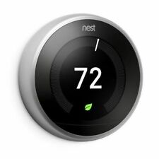 Google, T3007ES, Nest Learning Thermostat, 3rd Gen, Smart Thermostat, Steel