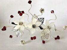 Handmade Mariées Demoiselles d/'honneur de bal-ivoire perle fleur Côté Diadème Fascinator
