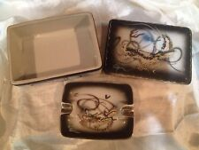 Vintage Moriage Dragonware Handpainted Cigarette Box And Ashtray 1950's