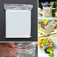 300Pcs Jewelry  Zipped Lock Reclosable Plastic Poly Clear Bags 4x6cm Y1