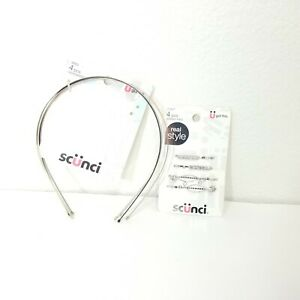 Scunci hair accessory lot headband and bobby pins lot of 2 total count of 7 nwt