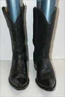 RUDEL Boots Santiags Cuir Noir Fermeture Scratch Zip T 8.5 US / 42 TBE