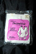 Vintage Sears Thermal Knit Ladies Winter Underwear size Large V Neck 1970s