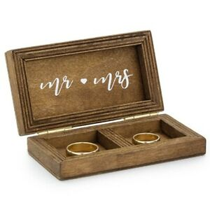 Ring Bearer Wooden Wedding Ring Box [Modern Cushion Alternative]