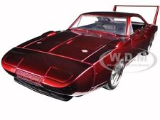 """1969 DODGE CHARGER DAYTONA RED """"FAST & FURIOUS 7"""" MOVIE 1/24 BY JADA 97060"""