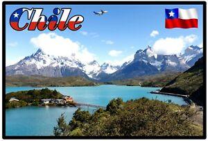 CHILE, SOUTH AMERICA - SOUVENIR NOVELTY FRIDGE MAGNET / SIGHTS / FLAG / GIFTS