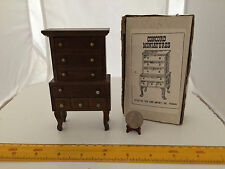 1/12 SCALE FIVE DRAWER CHEST OF DRAWERS NEW CONCORD, OLD STOCK IN ORIGINAL BOX