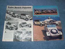 """1943 '44 VW Kubelwagen Schwimmwagen Vintage Article """"Palm Beach Panzers"""""""
