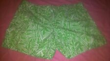 Lilly Pulitzer Green&White Patterned  Shorts Sz 4 Hot!