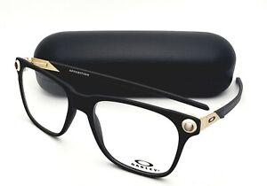 New OAKLEY Eyeglasses APPARITION OX 8152-0455 55-18 Matte Black & Gold Frames