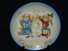 """Schmid Hummel 7.75"""" Collector's Plate Christmas 1978 Angels West Germany"""