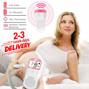 Baby LCD Ultrasonic Detector Fetal Doppler Prenatal Heart Rate Heartbeat Monit