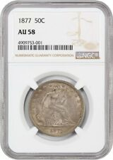 1877 50c NGC AU58 - Nice Type Coin - Liberty Seated Half Dollar - Nice Type Coin