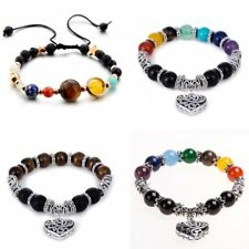7 Chakra Gemstone Healing Reiki Prayer Beaded Bracelet Bangle Jewellery Gift New