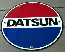 Datsun round advertising sign