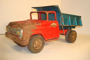 VINTAGE TONKA RED/BLUE DUMP PICKUP DELIVERY TRUCK GREAT FOR PARTS OR RESTORE