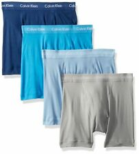 4 Pair Calvin Klein Classic Boxer Briefs Limited Edition Blue/Gray, Small NB1175