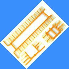 SANTA FE SD40-2 SNOOT Handrails (Plastic Version)  - Athearn - HO SCALE