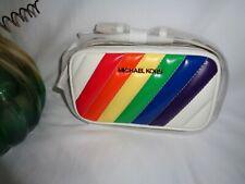 Michael Kors Rose Belt Bag Rainbow Vegan Faux Leather Quilted Fanny Waist Pack
