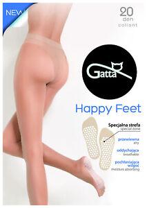 GATTA Tights HAPPY FEET Airy Breathable Moisture Absorbing Black Light Beige