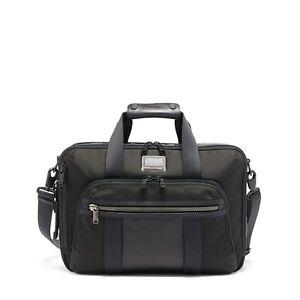 NEW TUMI Alpha Bravo Three Way laptop briefcase backpack black carry-on travel