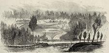 Battle Whitehall Ferry North Carolina, 1863 Antique Print