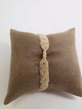 New Pandora M Beige Moments Macrame Clip Bracelet 590711CBG S2 Gift Set Option