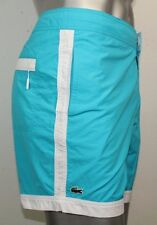 Lacoste Logo Swim Shorts Blue Large NWT $95 Side Pockets Hawaien/Blanc