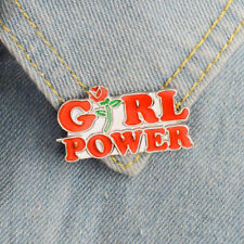 Women Girl Power Rose Flower Enamel Collar Lapel Pin Badge Brooch Jewelry Modish