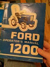 Original Ford Model 1300 1500 1900 Tractor Operators Manual 1320 1200 1600