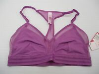 new XHILARATION Bra Women's Size M Racerback Mesh Purple Triangle Bralette