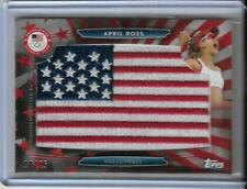 RARE 2016 TOPPS OLYMPIC APRIL ROSS FLAG PATCH CARD ~ /25 ~ BEACH VOLLEYBALL GOLD