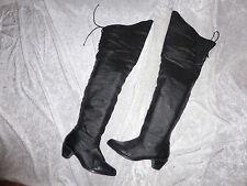 Pleaser Piraten Overknee Stiefel gr.41 / us11 schwarz getragen